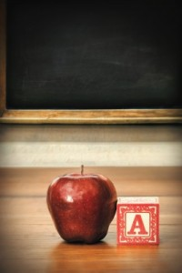 Apple and Letter Block