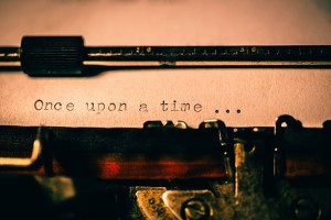 'Once upon a time' typed using an old typewriter